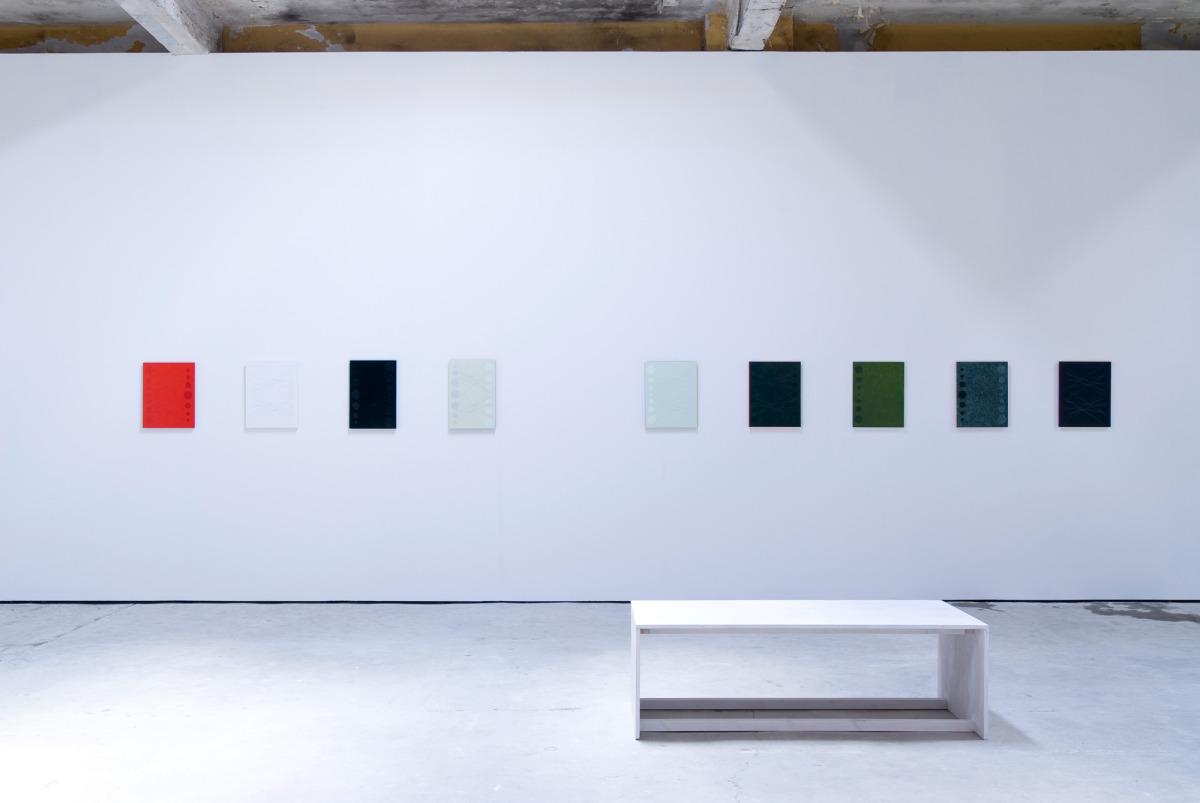 Wolfson 2017 Archival card, acrylic, emulsified acrylic on birch panel ...